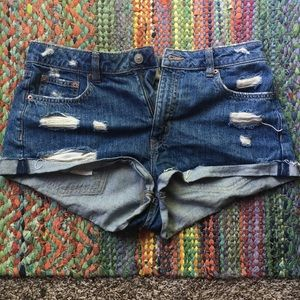 Divided high waisted shorts